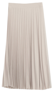 Sloan pleated long skirt