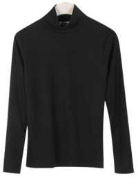 Half Turtleneck Fleece-lined T