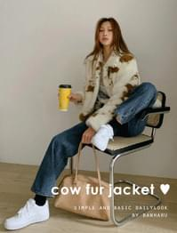 Mabe semi-over fit fur jacket