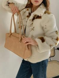 French suede square shoulder bag