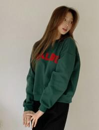 Malibu velvet printing Fleece-lined Sweatshirt