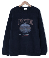 Howell printing Fleece-lined Sweatshirt 長袖上衣