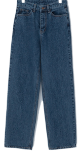 Crepe high waist brushed denim pants