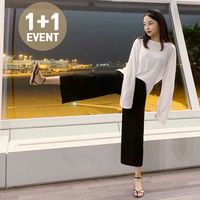 ♥1+1 Event♥ Wide Banding Pants P#YW319