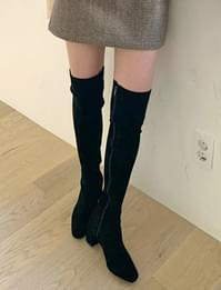 Slim Suede Knee High Long Boots