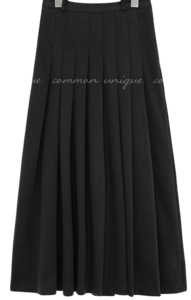 BENIA NAPPING PLEATS LONG SKIRT