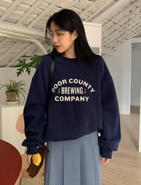 Brewing brushed over fit sweat shirt