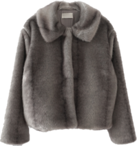 posh fake fur jacket (2colors)