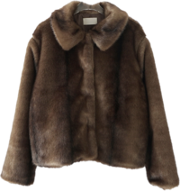 posh fake fur jacket