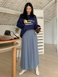 Story warm pleated long skirt