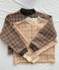 Tweed set blouse