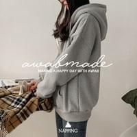 Day Shipping ♥ # AWABMADE: _ Rouge Woolen hooded zip