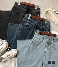 Oliver two-button straight tong denim trousers
