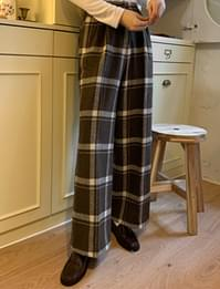 House Wool Wide Check Pants