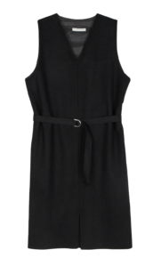 Merdi wool belted midi dress