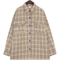 PONITO WOOL CHECK POCKET SHIRTS