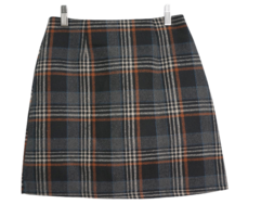 Schnee check mini skirt