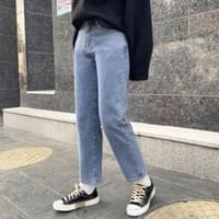 Dry Spandex Fleece-lined denim pants