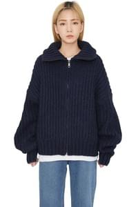 Need wool turtleneck zip-up cardigan