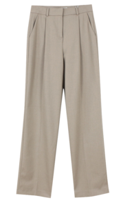 Winter Pintuck Slacks; Brown