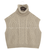 PANI TWIST TURTLE NECK KNIT VEST