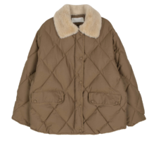 Field quilted parka coat
