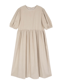 Bubble corduroy maxi dress