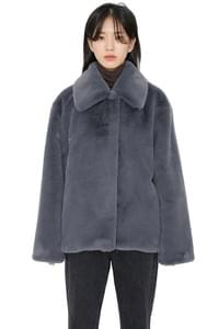 Fold mink fur jacket
