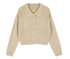 Beefit collar knit cardigan