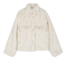 Puppy pocket fur jacket