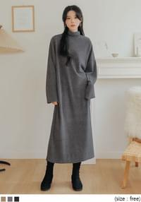 Turtleneck Loose Long Dress