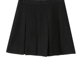 Mori herringbone pleated mini skirt