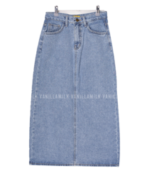 Pang Pang Split Long Denim Skirt 裙子