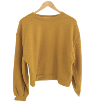 Raised Mongle Balloon Ribbed Sweatshirt