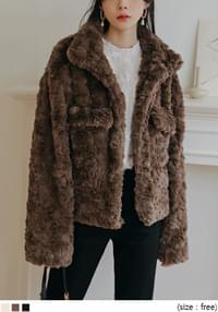 DIVA POCKET HIGH NECK FUR JACKET