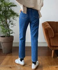 Daily Fleece-lined boy fit straight jeans