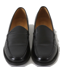 Glossy Crack Basic Loafers