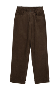 Muffin corduroy wide trousers