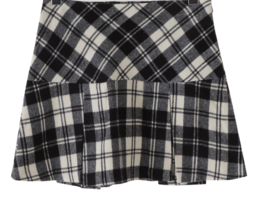 Half Inverted Warm Check Mini Skirt