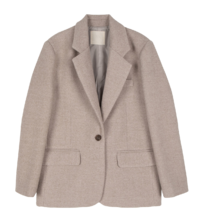 Modern wool single blazer