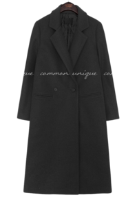 Quilted Lining Double-Breasted Coat