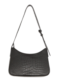 Croc Texture Faux Leather Bag