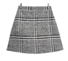 Deer Peep Check Skirt