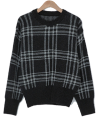 Noncoming Check Wool Knit
