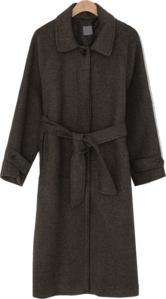 Salt Hidden Button Balmacan Coat