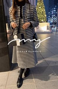 My-littleclassic/ houndtooth tweed dress