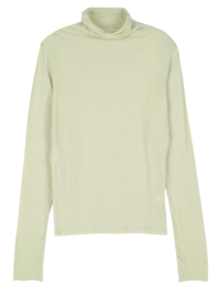 Word cut turtleneck top