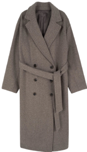 Lax wool double long coat