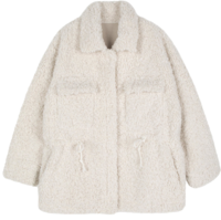 Peter pocket shearling half coat
