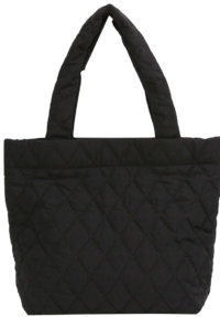 Perry quilted square tote bag